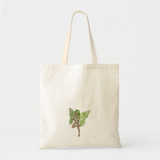 Green Lady Fairy 8 - 3D Fantasy Art - Bags