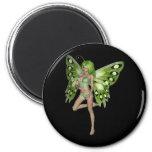 Green Lady Fairy 8 - 3D Fantasy Art - Fridge Magnet
