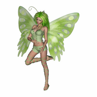 Green Lady Fairy 8 - 3D Fantasy Art - Standing Photo Sculpture
