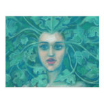 Green Lady / Forest Queen, fantasy art Postcard