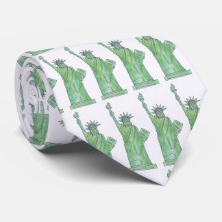 Green Lady Liberty Statue of Liberty NYC Tie