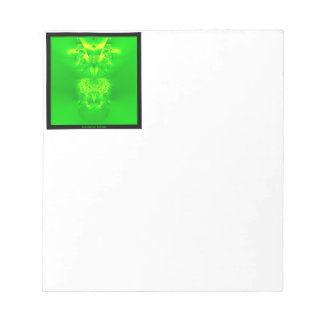 Green Lady Slipper Orchid Fractal Memo Notepads