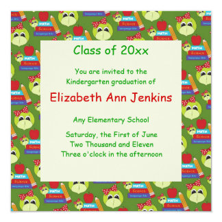 Green Lady Turtle Graduation Announcement