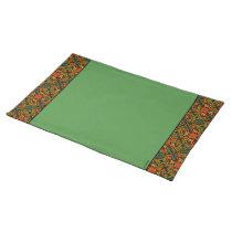 Green Ladybug Trim Pattern Cloth Placemat