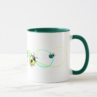Green ladybugs mug