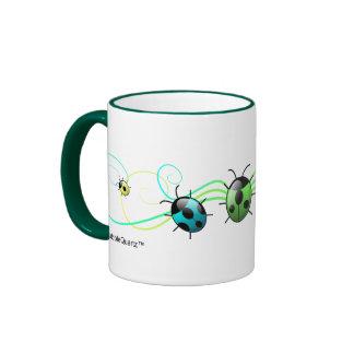 Green ladybugs mug