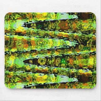 Green Lagoon Romance : Waves n Spectrum Mouse Pad