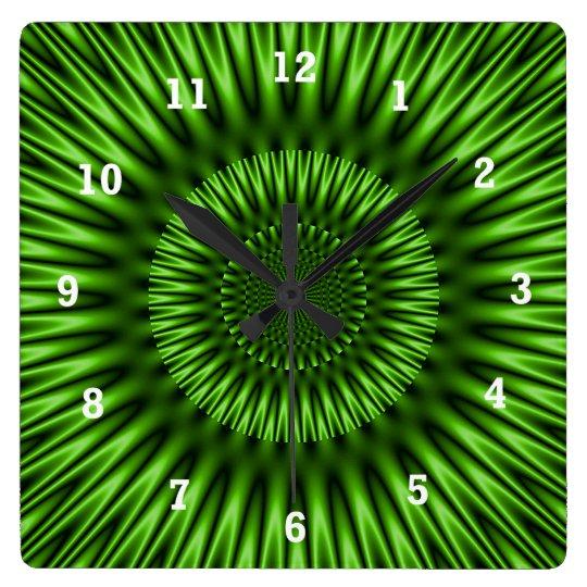 Green Lagoon Square Wall Clock