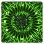 Green Lagoon Wall Clock