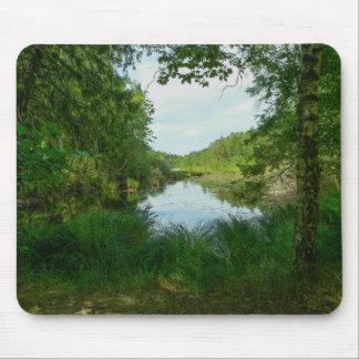 Green lake mouse pad