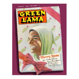 Green Lama 7 Post Card