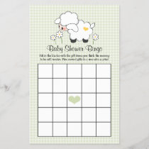 Green Lamb Baby Shower Bingo