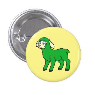 Green Lamb Pinback Button