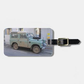 Green Land Rover Bag Tag