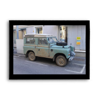 Green Land Rover Envelope