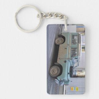 Green Land Rover Keychain