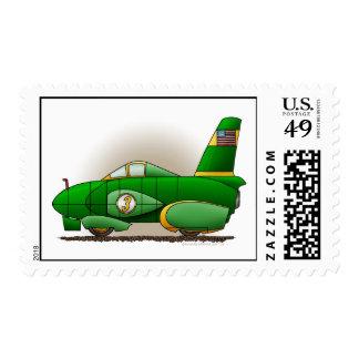 Green Land Speed Car Stamps