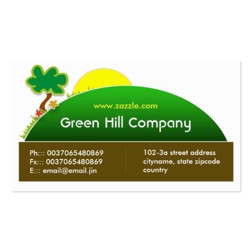green landscape business card
