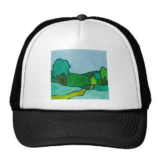Green Landscape Trucker Hat