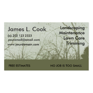 Green Landscaping Lawn Care Mowing Double-Sided Standard Business Cards (Pack Of 100)