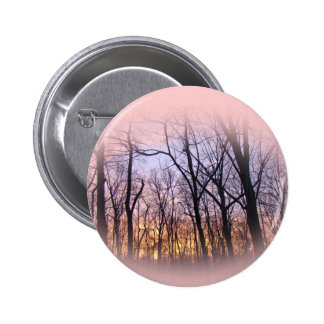 Green Lane PA Woodland Winter Sunset Pinback Button