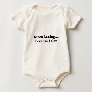 Green laning black baby bodysuit