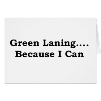 Green laning black card