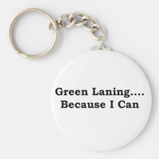 Green laning black keychain
