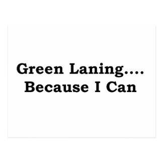 Green laning black postcard