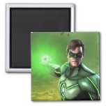 Green Lantern 2 Inch Square Magnet
