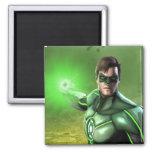 Green Lantern 2 Inch Square Magnet