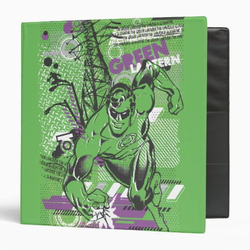 Green Lantern - Absurd Collage Poster Vinyl Binders