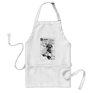 Green Lantern - Action Comic Cover, Black and Whit Adult Apron