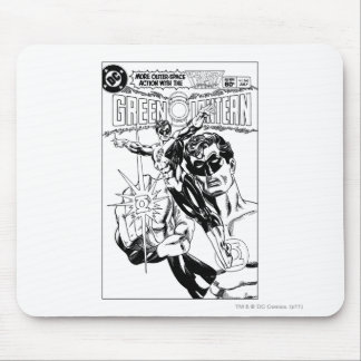 Green Lantern - Action Comic Cover, Black and Whit Mouse Pad