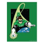 Green Lantern and Earth Post Card