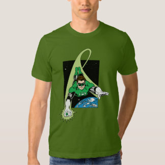 Green Lantern and Earth T Shirts