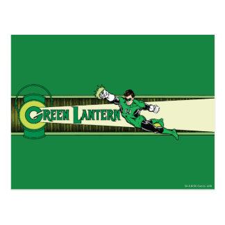 Green Lantern and Logo Postcard