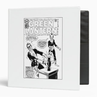 Green Lantern and Sinestro Cover, Black and White Binder