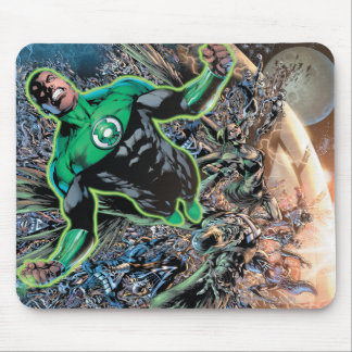 Green Lantern and the Moon Mouse Pad