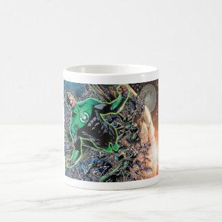 Green Lantern and the Moon Coffee Mugs