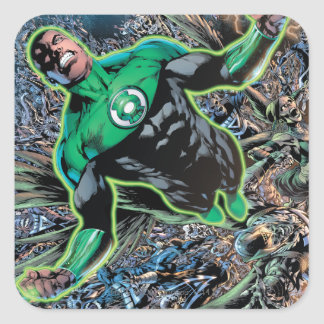 Green Lantern and the Moon Square Sticker