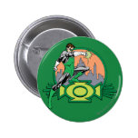 Green Lantern City Background and Logo Button