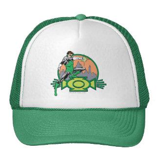 Green Lantern City Background and Logo Trucker Hat