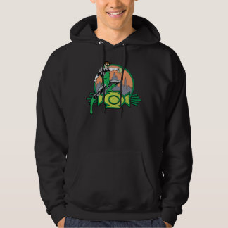Green Lantern City Background and Logo Hoodie