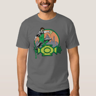 Green Lantern City Background and Logo Tee Shirt