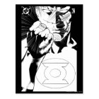 Green Lantern close up cover, Black and White Postcard