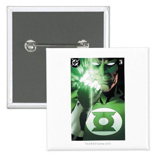 Green Lantern close up cover Pinback Button