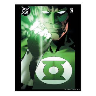 Green Lantern close up cover Postcard