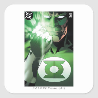 Green Lantern close up cover Square Stickers