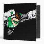 Green Lantern - Comic, Flying Right 3 Ring Binder